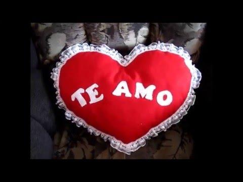 Almohada corazon san valentin youtube - Corazones de san valentin ...