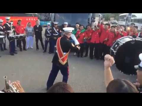 Epic Drum Face-off I Marines vs Korean ROK Army | Army Bands