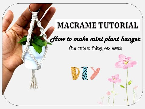 macrame-diy-:-mini-plant-hanger-||-simple-quick-&-easy-||-perfect-for-rear-view-mirror