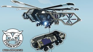 HELICOPTER TOWING ENDS IN CRASH! - Stormworks Build and Rescue Multiplayer Gameplay