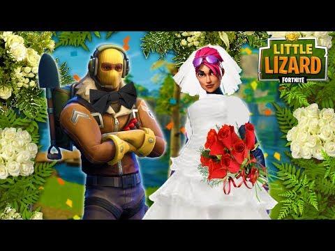 RAPTOR AND LITTLE KELLY WEDDING! - FORTNITE SHORT FILM