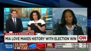Mia Love Challenged By Clueless CNN Reporter ~ Larry Elder
