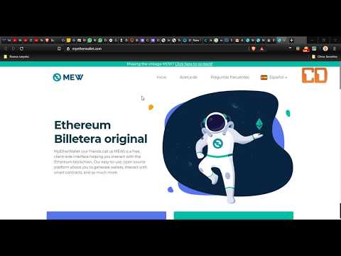 COMO CREAR UNA BILLETERA DE ETHEREUM – MY ETHER WALLET 2019 –  NUEVA VERSION MEW