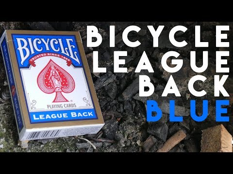 Deck Review - Bicycle League Back Blue Edition Playing Cards [HD-4K]