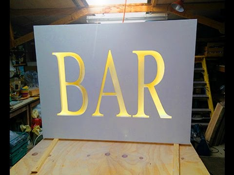Led light wedding bar sign youtube led light wedding bar sign aloadofball Image collections