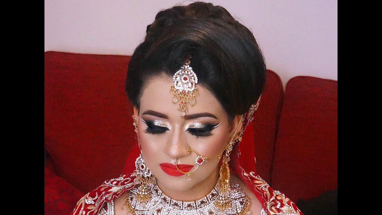 real bride | arabic asian bridal makeup - youtube
