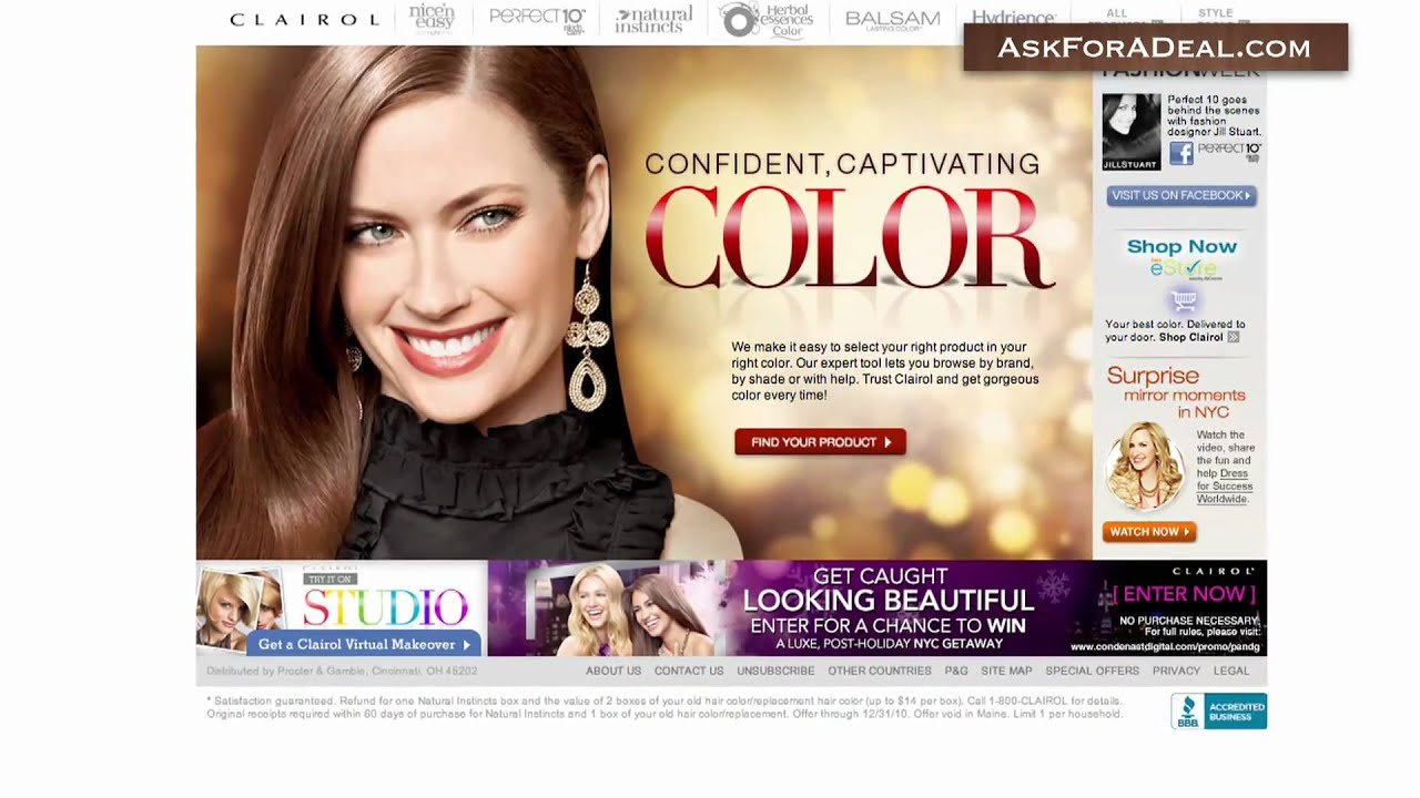 Clairol Hair Color Youtube