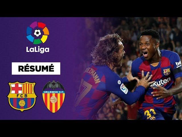Résumé : Le FC Barcelone colle une manita à Valence !