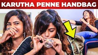 'Karutha Penne' Sanah Moidutty Handbag Secrets Revealed | What's Inside the HANDBAG