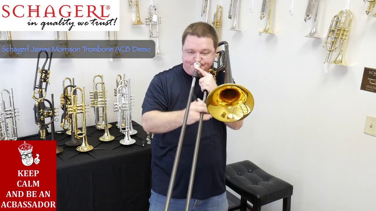 Schagerl James Morrison Tenor Trombone with F Attachment in Vintage Matte  Lacquer!