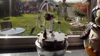 Watch glass engine running on ice cubes