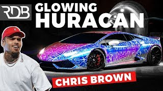 #RDBLA CHRIS BROWN'S GLOWING COLOR CHANGING LAMBORGHINI HURACAN! *CRAZY ONE OF A KIND*