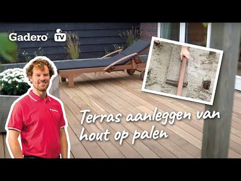 #36 Terras aanleggen van hout op palen - Doe het zelf tips