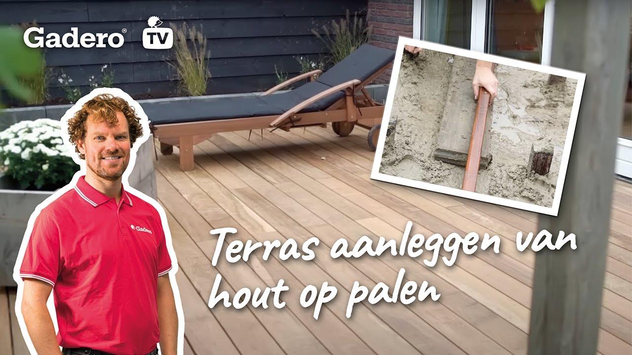 Terras aanleggen van hout op palen doe het zelf tips youtube