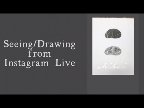 Shibui: An Instagram Live Seeing/Drawing Video