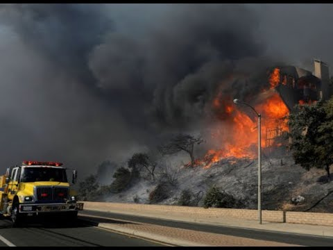 California Wildfires  Jan 2018- 'Thomas' Fire Now 91 Percent Contained