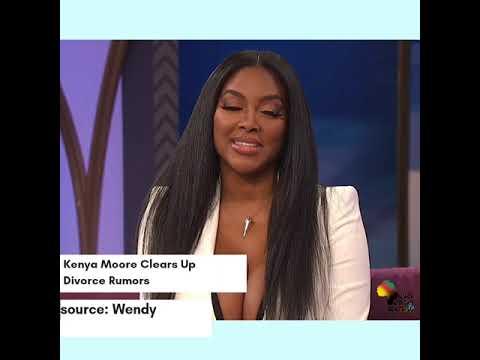 Kenya Moore Clears Up Divorce Rumours on Wendy (Vertical Video )   @baabmedia