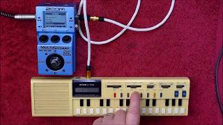 The CASIO VL-1 (VL Tone) & The ZOOM MS-70CDR = Epic Sounds