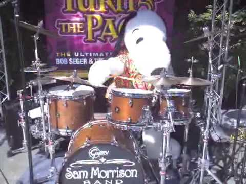 Qik - Snoopy playing drums Part 1 of 2 by Cyndi Morrison