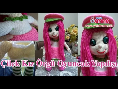 Amigurumi Bebekte Saç Yapımı : Çilek kız saç ekimi yapılışı Örgü oyuncak amigurumi canım anne