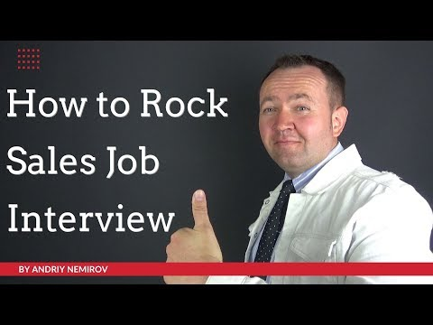 How to Rock at Sales Job Interview