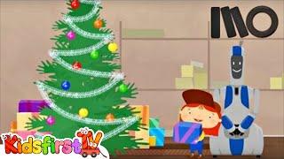Weihnachten cartoon. Arzt McWheelie und Santa Claus.