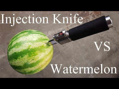 Injection Knife vs. Watermelon (First Test)