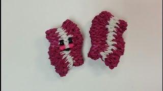 3-D Happy Bacon Tutorial by feelinspiffy (Rainbow Loom)