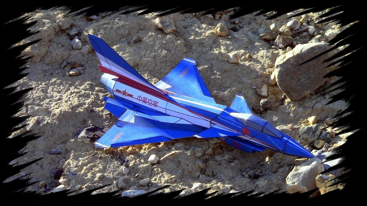 Papercraft J-10 Paper Airplane 3D model