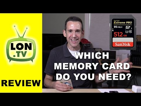 How to Choose a SD Card for Video on a Camera or Camcorder SDHC vs SDXC