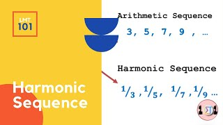 How to find the nth term of HARMONIC SEQUENCE | LMT101