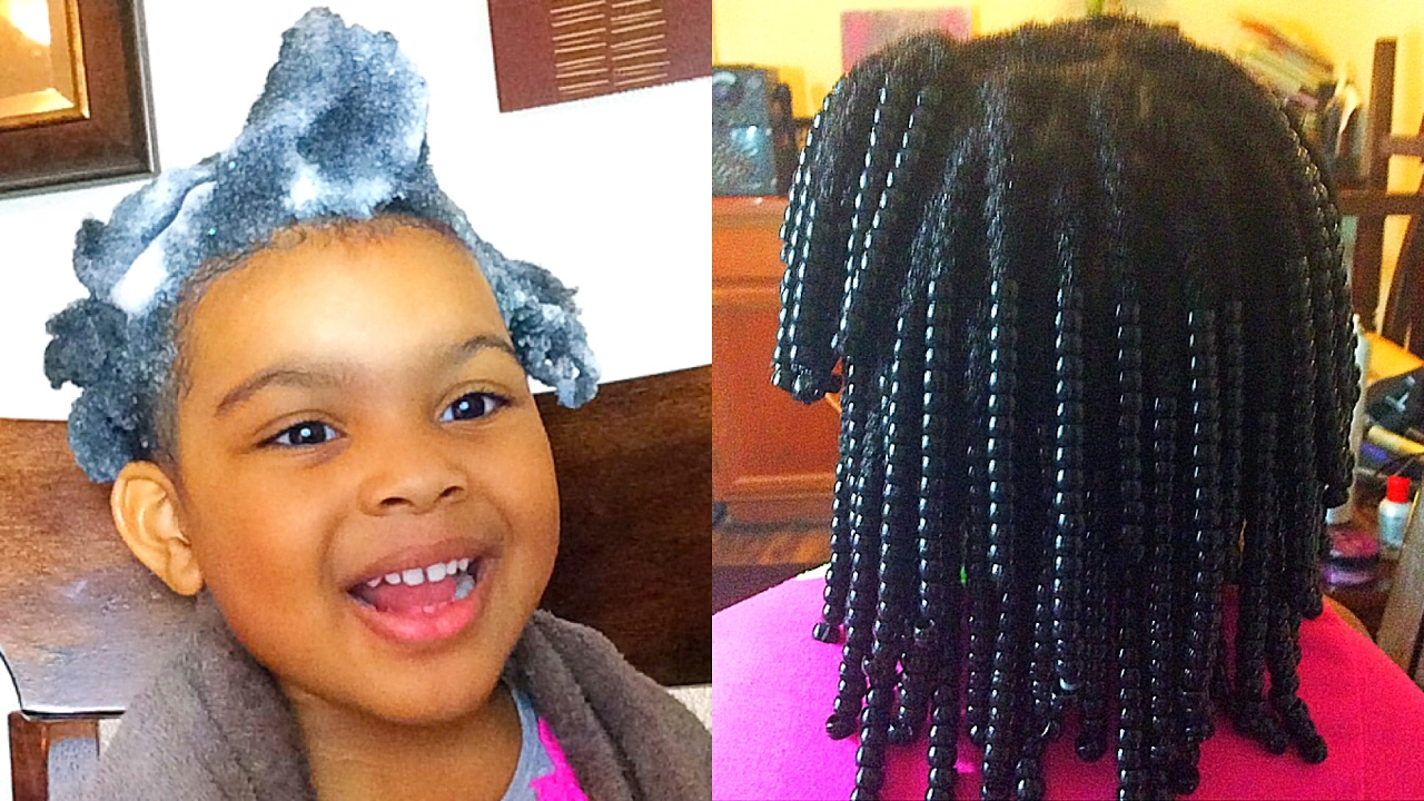 Natural Hair| Wash Day For 4c hair Kid Protective Styles - YouTube