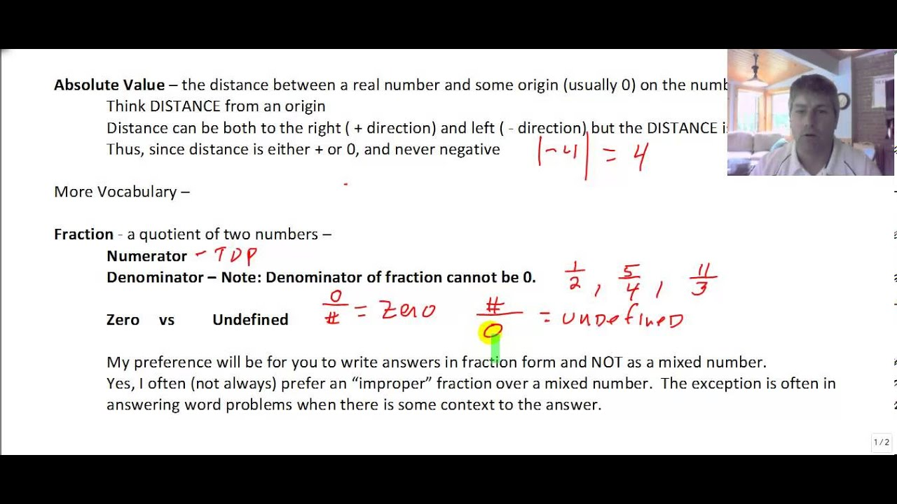 Section 12 And 13 Symbols Number Sets Intro To Fractions Youtube