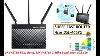 Asus DSL AC68U Dual band Wireless AC1900 VDSL ADSL Modem Router in HINDI by TECHNICAL ASTHA