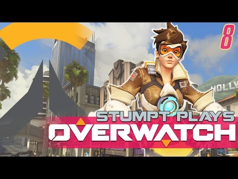 Overwatch  8  Hollywood down! 4player Gameplay