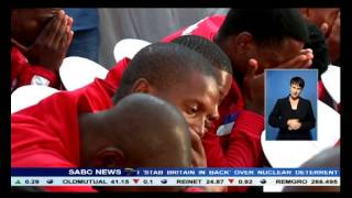 An emotional memorial service for Richard Henyekane