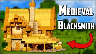 How to Build a Medieval Blacksmith in Minecraft 1 14 3+ EASY! YouTube