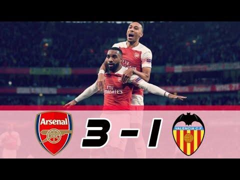 Arsenal vs Valencia 3-1 | highlight all goal