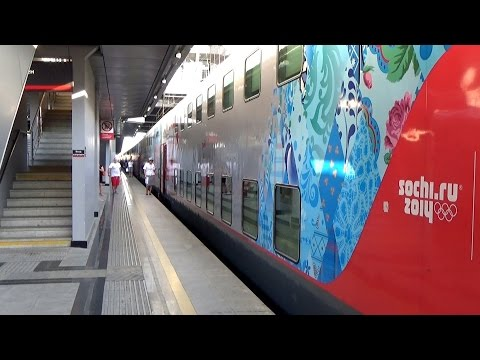 Адлер-Сочи. Наш отъезд. Обзор двухэтажного поезда Адлер-Москва