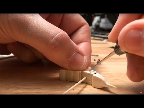Carving & Making a Tiny Wood Ship Live - Recorded Sunday May 7th 2017