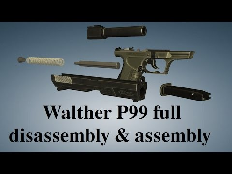 Walther P99: full disassembly & assembly