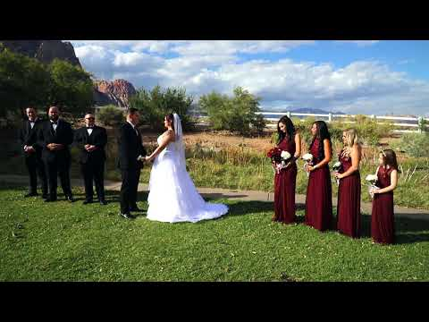 Red Rock Canyon Wedding At Spring Mountain Ranch State Park Youtube