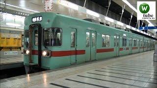 【三菱GTO】西鉄6050形(6051)普通 福岡(天神)駅出発 2011年 Nishitetsu Tenjin Omuta Line