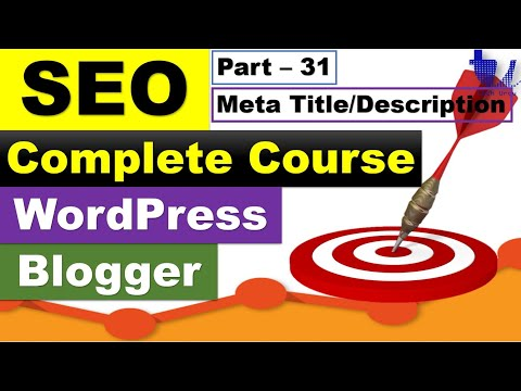 Complete SEO Course for WordPress & Blogger | Part 31 - Meta Tags and Meta Description [Urdu/Hindi]