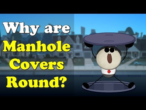 Why Are Manhole Covers Round? | #aumsum