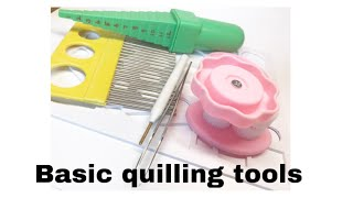 Quilling tools for beginners, handy tools, quilling for beginners, TOOLS