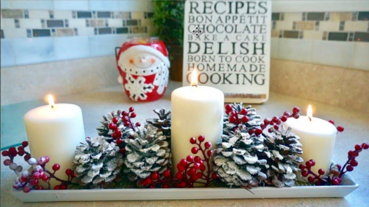 Haz tu propio centro de mesa navide o ideas de adornos - Centro de mesa navideno ...