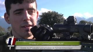 "Le 2e REP et les ""paratroopers"" Ejercicios Francia-Gran Bretaña"