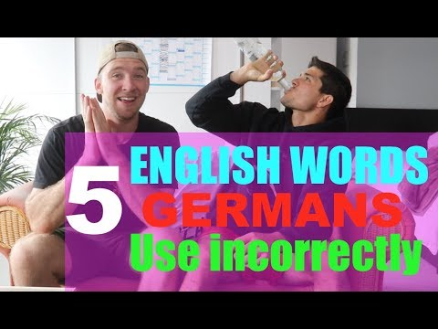 5 English Words and Phrases that GERMANS ALWAYS USE INCORRECTLY!