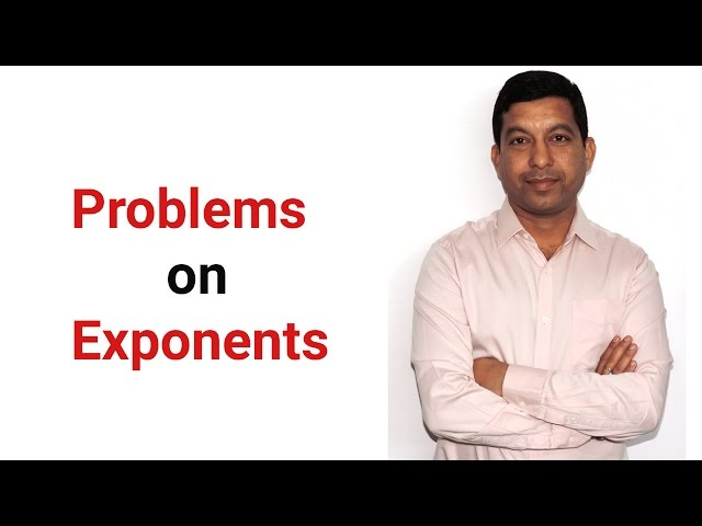 Problems on Exponents